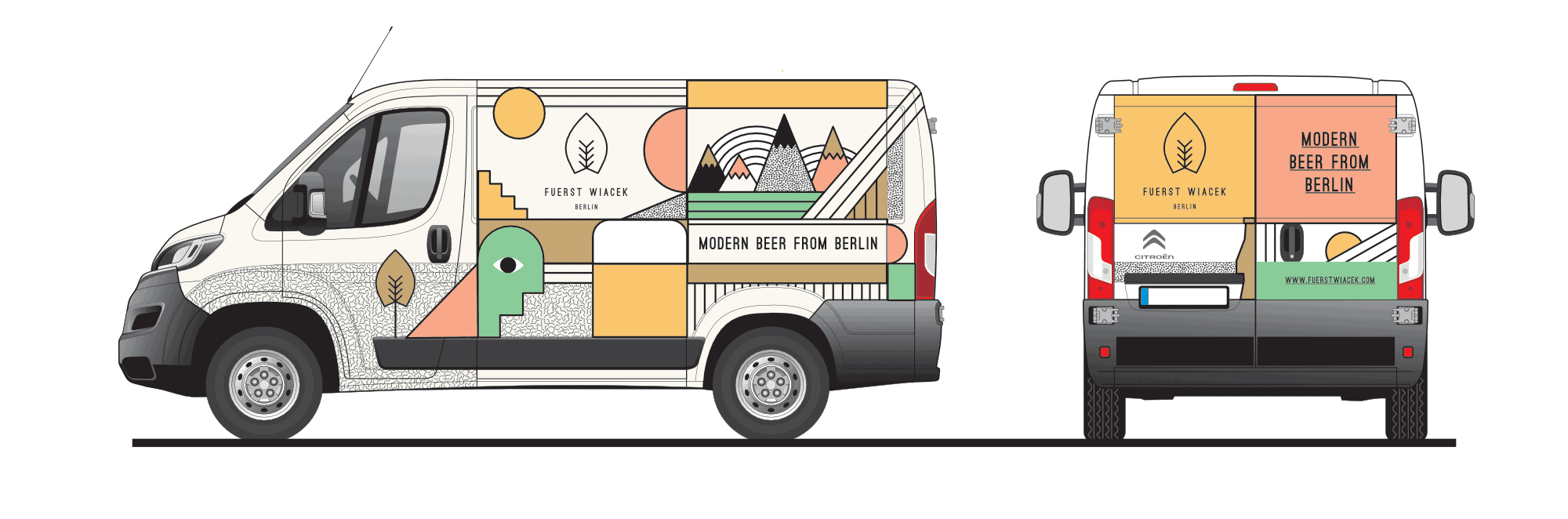 The FUERST WIACEK delivery van - used for making personal deliveries to Craft Beer bars and bottle shops in Berlin