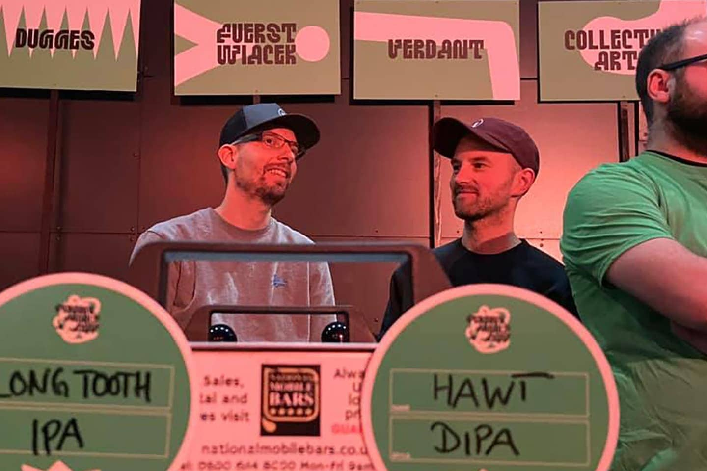 Georg and Lukasz representing FUERST WIACEK at Cloudwater's Friends, Family & Beer Festival in Manchester