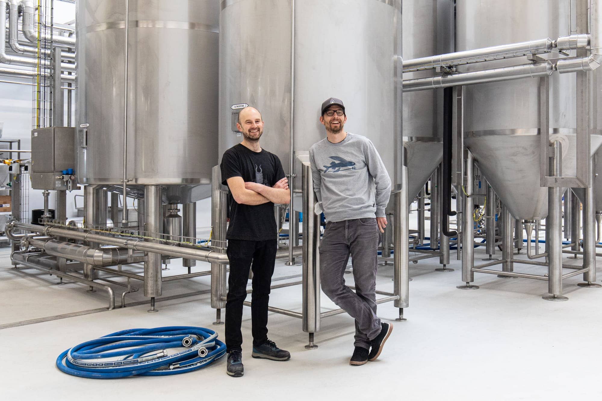 Georg and Lukasz at the new FUERST WIACEK Brewery in Berlin Siemensstadt