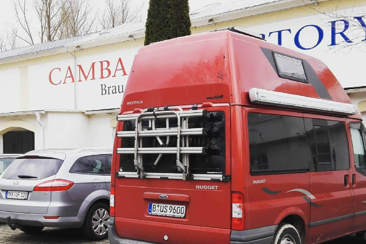 Georg's camper van at the CAMBA Old Factory during a FUERST WIACEK brew day
