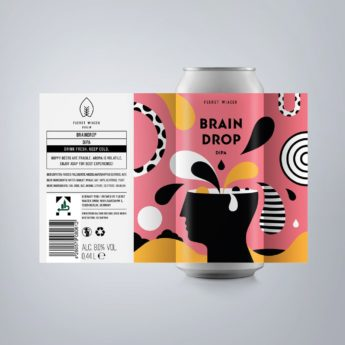 Braindrop - an 8.0 % DIPA from FUERST WIACEK, a craft beer brewery in Berlin - Dry-hopped with Mosaic & Vic Secret