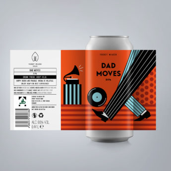 Dad Moves - an 8.0 % DIPA from FUERST WIACEK, a craft beer brewery in Berlin - Dry-hopped with Citra, Mosaic, Simcoe & Idaho 7