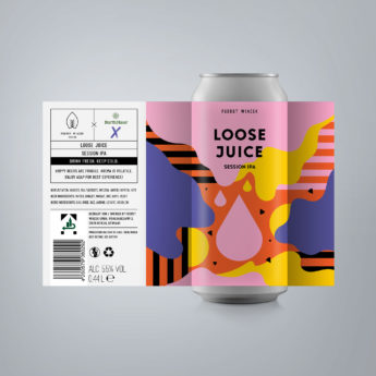 Loose Juice - a 5.5 % Session IPA from FUERST WIACEK, a craft beer brewery in Berlin - Dry-hopped with Citra, Citra Lupomax, Azacca Lupomax & Cashmere Lupomax - brewed in collaboration with Barth Haas