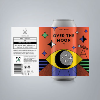 Over the Moon - a 6.8 % IPA from FUERST WIACEK, a craft beer brewery in Berlin - Dry-hopped with Mosaic, Loral & Idaho 7