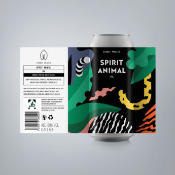 Spirit Animal - a 6.8 % IPA from FUERST WIACEK, a craft beer brewery in Berlin - Dry-hopped with Citra, Mosaic, & Idaho 7