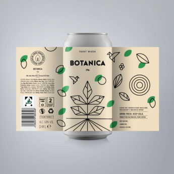 Botanica - a 6.8 % IPA from FUERST WIACEK, a craft beer brewery in Berlin - Dry-hopped with Citra, Simcoe, Idaho 7, & El Dorado