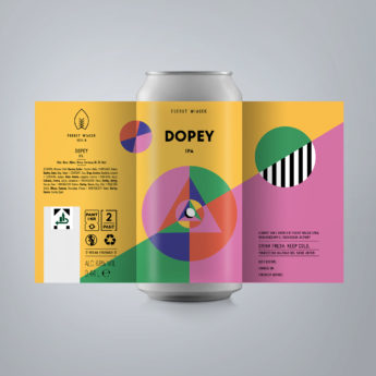Dopey - a 6.8 % IPA from FUERST WIACEK, a craft beer brewery in Berlin - Dry-hopped with Citra & Chinook