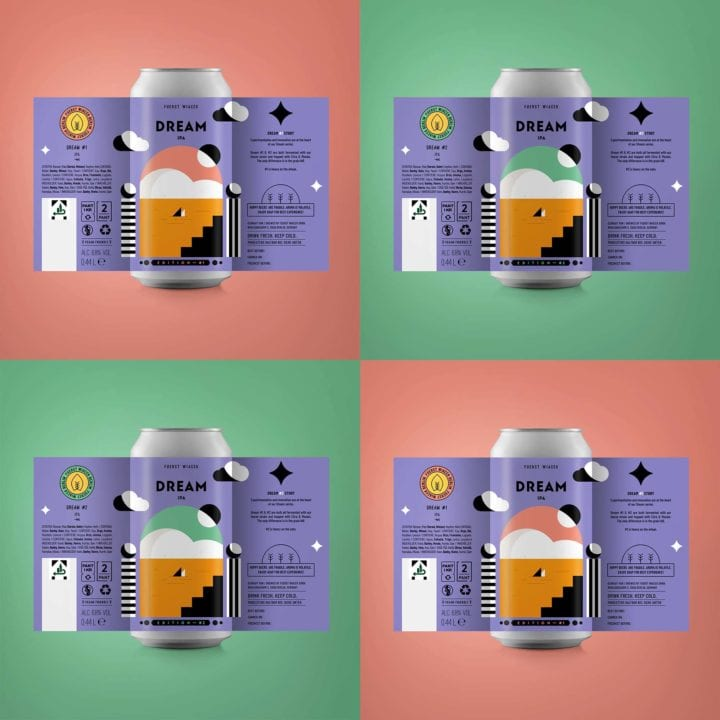 Dream #1 & Dream #2 - 6.8 % IPAs from FUERST WIACEK, a craft beer brewery in Berlin - Dry-hopped with Citra & Mosaic