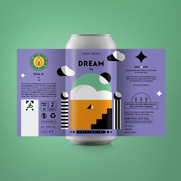Dream #2 - a 6.8 % IPA from FUERST WIACEK, a craft beer brewery in Berlin - Dry-hopped with Citra & Mosaic