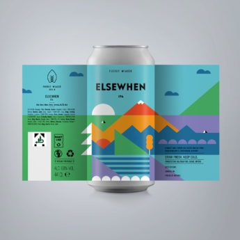 Elsewhen - a 6.8 % IPA from FUERST WIACEK, a craft beer brewery in Berlin - Dry-hopped with Simcoe & Chinook