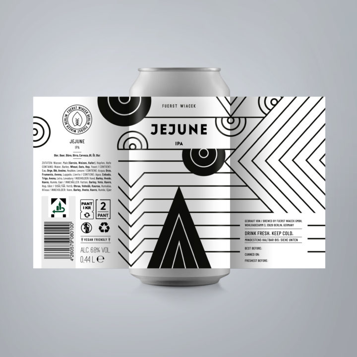Jejune - a 6.8 % IPA from FUERST WIACEK, a craft beer brewery in Berlin - Dry-hopped with Mosaic, & Simcoe