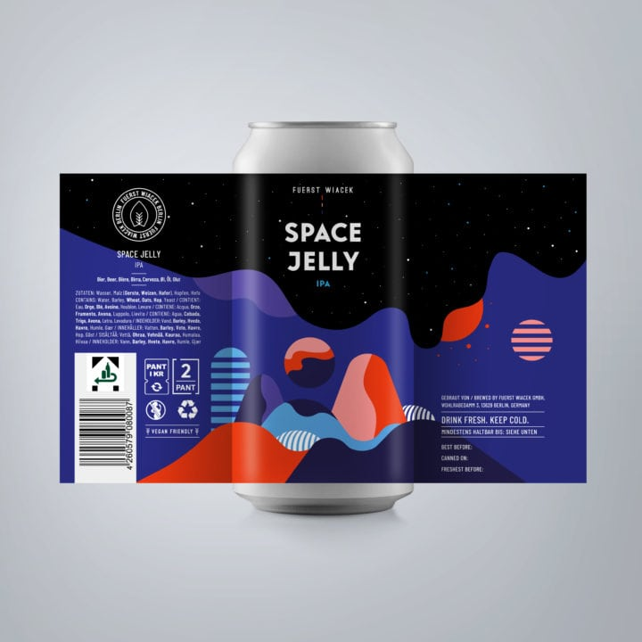 Space Jelly - a 6.8 % IPA from FUERST WIACEK, a craft beer brewery in Berlin - Dry-hopped with Citra