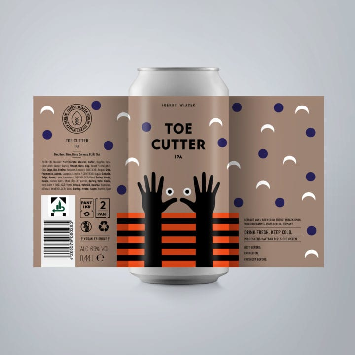 Toe Cutter - a 6.8 % IPA from FUERST WIACEK, a craft beer brewery in Berlin - Dry-hopped with Citra, Amarillo & Ekuanot
